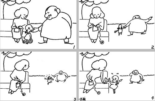 连环漫画创作谈(方成讲图片第四十九讲)开心的漫画表情包漫画