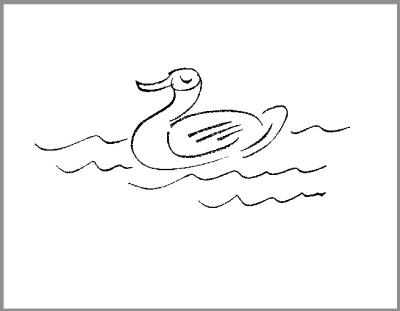 水下有海马简笔画-讽刺与幽默