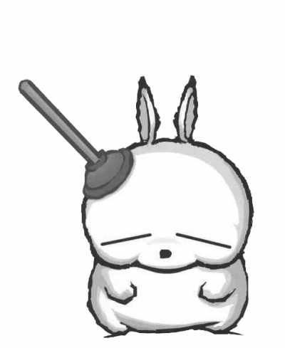 手绘 搞笑兔