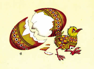 小鸡做虫子的简笔画