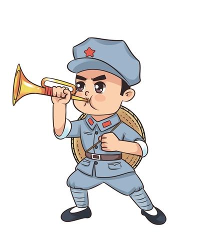 红军卡通人物素材