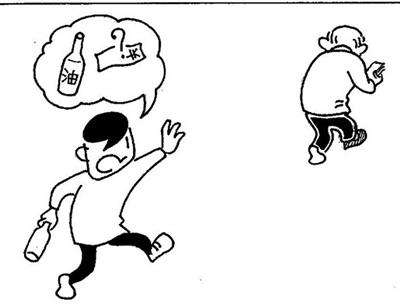 幽默漫画简笔画