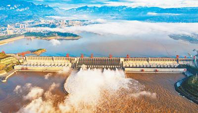 三峡水库 为长江保安澜