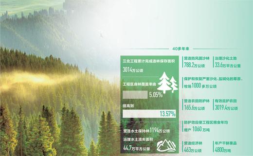 三北工程造林保存面积超3000万公