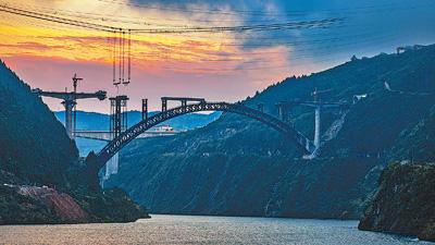 高铁跨山川