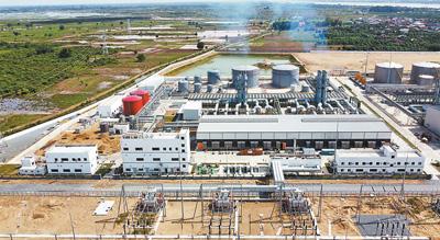 中国承建柬埔寨200兆瓦双燃料电站项目正式验收