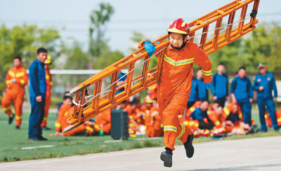 消防运动会竞赛练技能