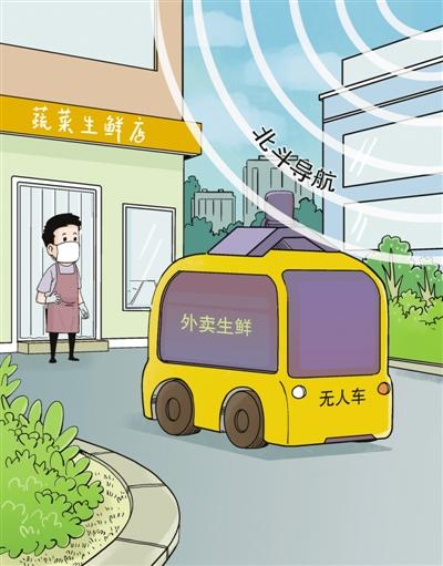 北京市启动北斗导航系统支持下的无人驾驶车送货