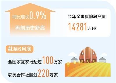 上半年农业增加值同比增3.8% 粮食丰收有保障