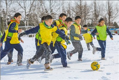 雪地足球别样欢乐