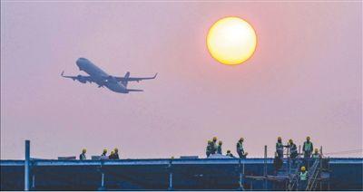 海南海口美兰空港一站式飞机维修基地加快施工