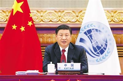 �近平出席上海合作�M�成�T��元首理事��第二十一次���h并�l表重要�v�