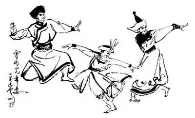 蒙古族族人物简笔画
