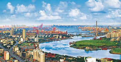 渤海石油街道风景