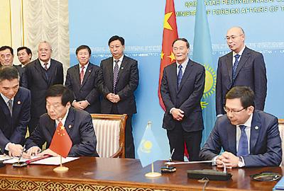 王岐山会见哈萨克斯坦国家安全委员会主席马西莫夫