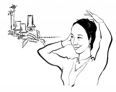 傣族风景简笔画图片