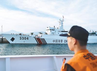 中国海警启程参加中越海警 北部湾共同渔区海上联合检查