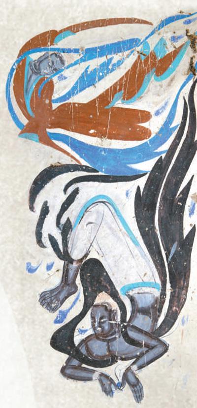 """敦煌,丝路流韵袅千年(遥望丝路) 王旭东 《 人民日报 》( 2017年05月21日   07 版)     敦煌莫高窟第249窟,中原与西域风格的飞天(西魏)。       敦煌莫高窟第112窟,观无量寿经变之反弹琵琶(中唐)。       敦煌石窟艺术表达了民众坚定而持久的信仰精神。   孙志军摄      敦煌自古以来是多民族、多文化交融互通之地,被誉为""""人类文化运河""""""""欧亚大动脉""""的丝绸之路经过这里,将世界上最古老的四大文明——中国、印度、埃及和古巴比伦连接起来。于是,佛教、基督教、伊斯兰教在这条 - weicuibai65 - 雕龙绣凤"""
