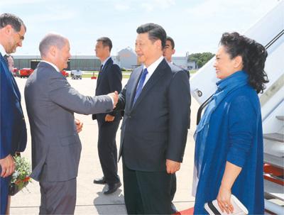 习近平抵达汉堡出席二十国集团领导人第十二次峰会