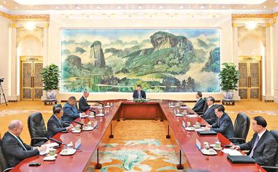 习近平集体会见第七次金砖国家安全事务高级代表会议外方代表团团长