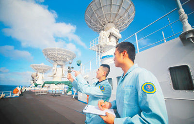 远望号船队完成全年海上测控任务