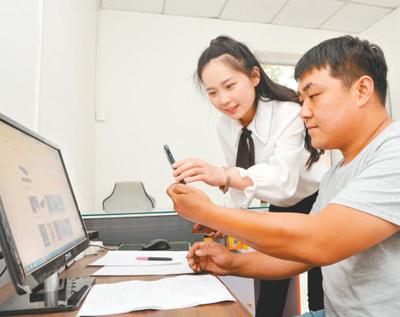網上學技能 南皮縣1300余名殘疾人實現就業