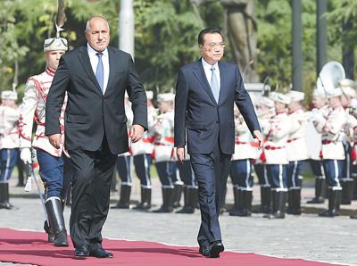 李克强同保加利亚总理鲍里索夫会谈