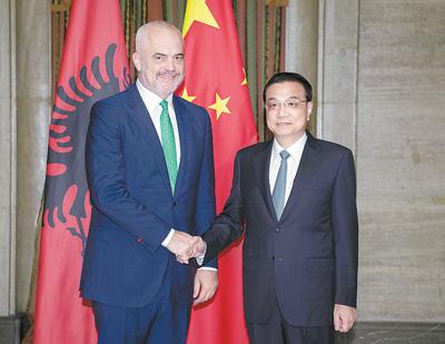 李克强分别会见阿尔巴尼亚总理拉马、爱沙尼亚总理拉塔斯、匈牙利总理欧尔班