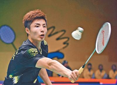 羽毛球世锦赛男单 石宇奇谌龙晋级八强