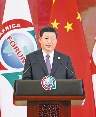 张德江和彭丽媛欢迎出席中非合作论坛北京峰会的外方领导人夫妇