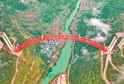 貴州省大小井特大橋建設進入沖刺階段