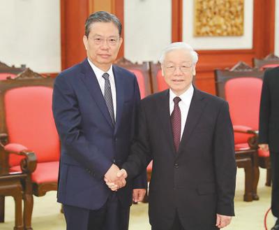 赵乐际对越南进行正式友好访问
