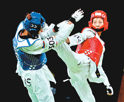青奥会跆拳道女子四十九公斤级 曹梓涵获铜牌