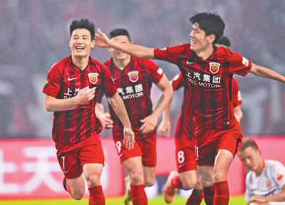 上海上港队首获中超冠军