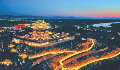 高閣聳峙 全園覽勝(北京世園會風采)