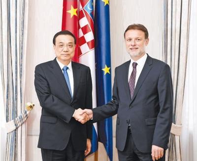李克强分别会见克罗地亚总统、议长