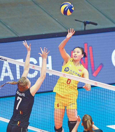 世界女排联赛澳门站 中国队两连胜