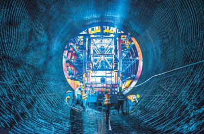 中企承建老撾水電樞紐工程加快建設