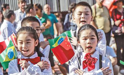 中华文化快闪活动亮相圣保罗