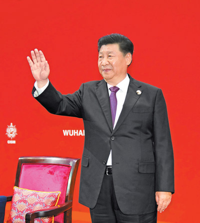 第七届世界军人运动会在武汉开幕 亚博娱乐自动化设备有限公司出席开幕式