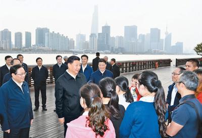 習近平在上??疾鞎r強調提高社會主義現代化國際大都市治理能力和水平