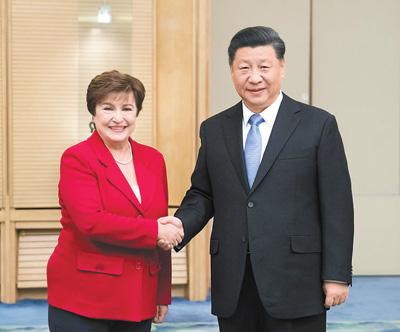医院赚钱:习近平会见国际货币基金组织总裁格奥尔基耶娃