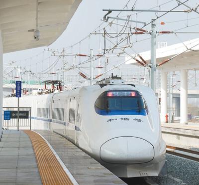 """成贵高铁开通 结束了苏北高铁""""无路无网""""的状况"""