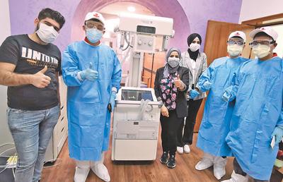 中国专家组在伊拉克巴格达成功安装移动X光机(患难见真情 共同抗疫情)