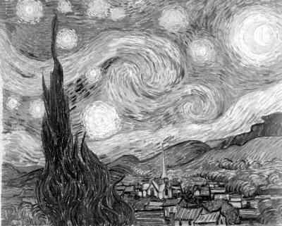 《牛津西方艺术史》插图485:文森特·凡·高的《星空》(1889年)