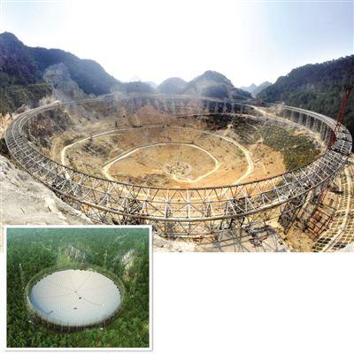 贵州:世界最大望远镜圈梁合龙 占地约30个足球场(图 - 契约婴儿(农家子弟) - 契约婴儿的博客