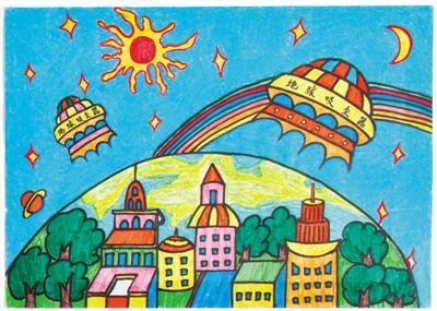 儿童画 400_285图片