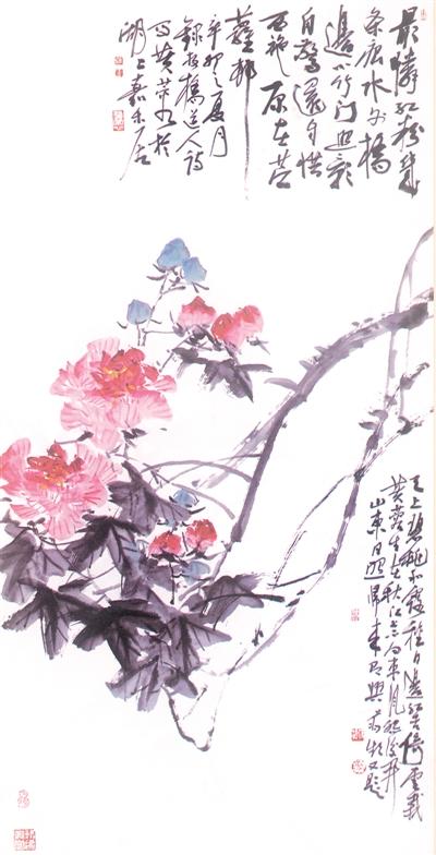 图片报道 《 人民日报 》( 2017年02月26日   12 版)        蒋频中国画《秋江芙蓉》。 - weicuibai65 - 雕龙绣凤