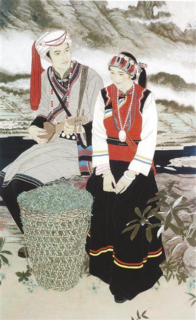 月亮湾(中国画) - weicuibai65 - 雕龙绣凤