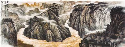 黄河乾坤(中国画) - weicuibai65 - 雕龙绣凤